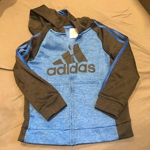 Adidas Full Zip Hooded Sweatshirt